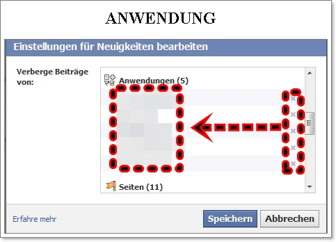 ANWENDUNG facebook
