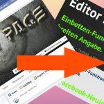 Einbetten-Funktion bei Facebook