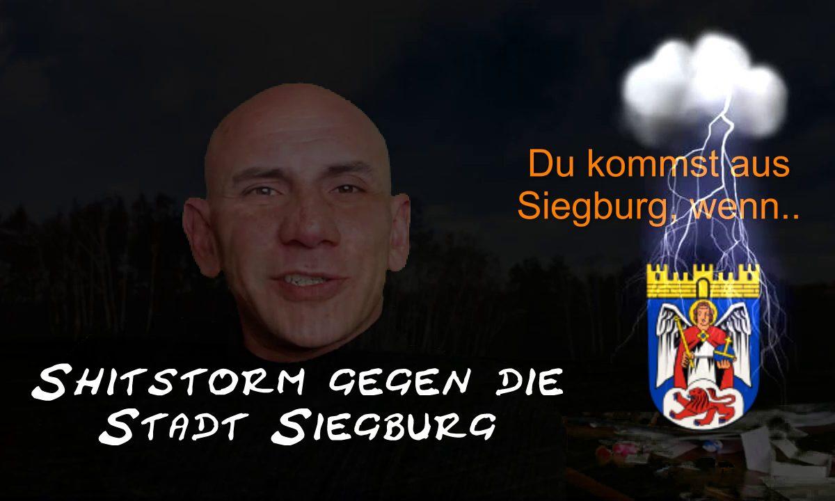 Shitstorm gegen die Stadt Siegburg und Franz Huhn