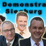 AfD Demonstration Siegburg mit Jusos, CDU, SPD, Grünen, DGB