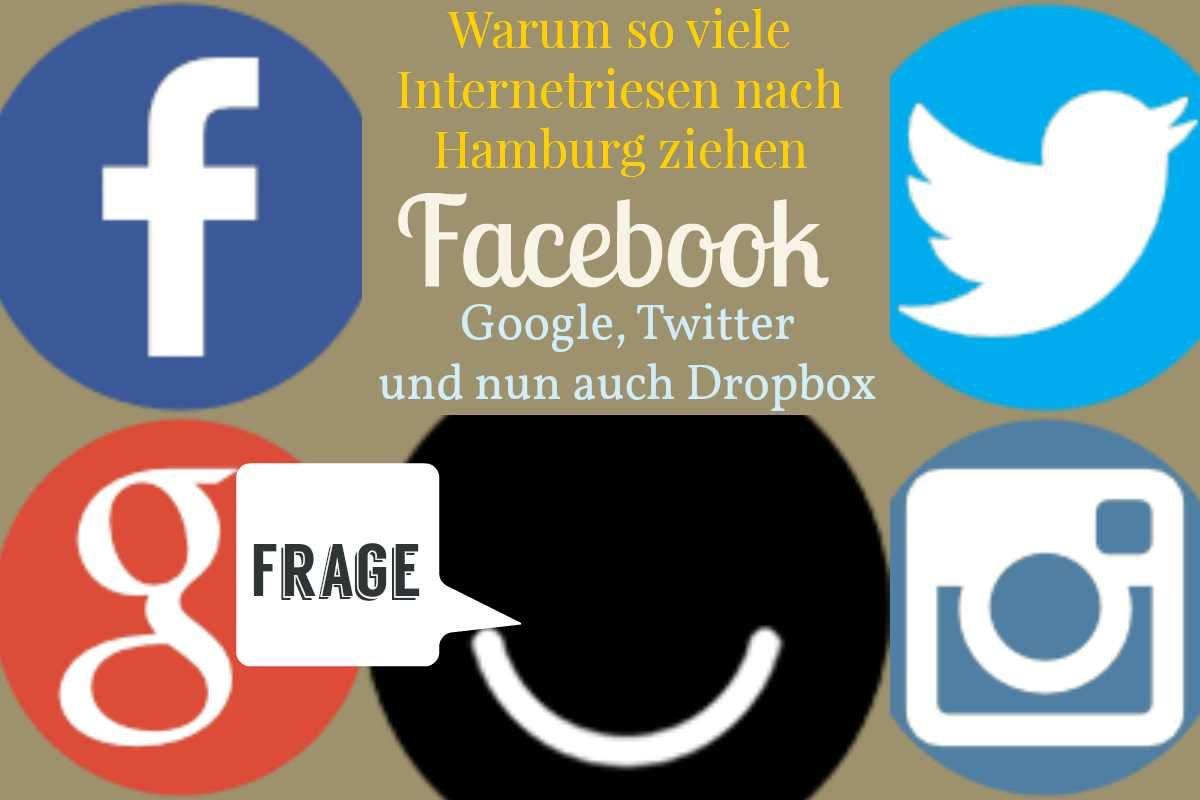 Facebook, Google, Twitter Dropbox:
