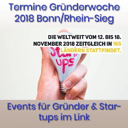 Gründerwoche Deutschland 2018 Bonn/Rhein-Sieg