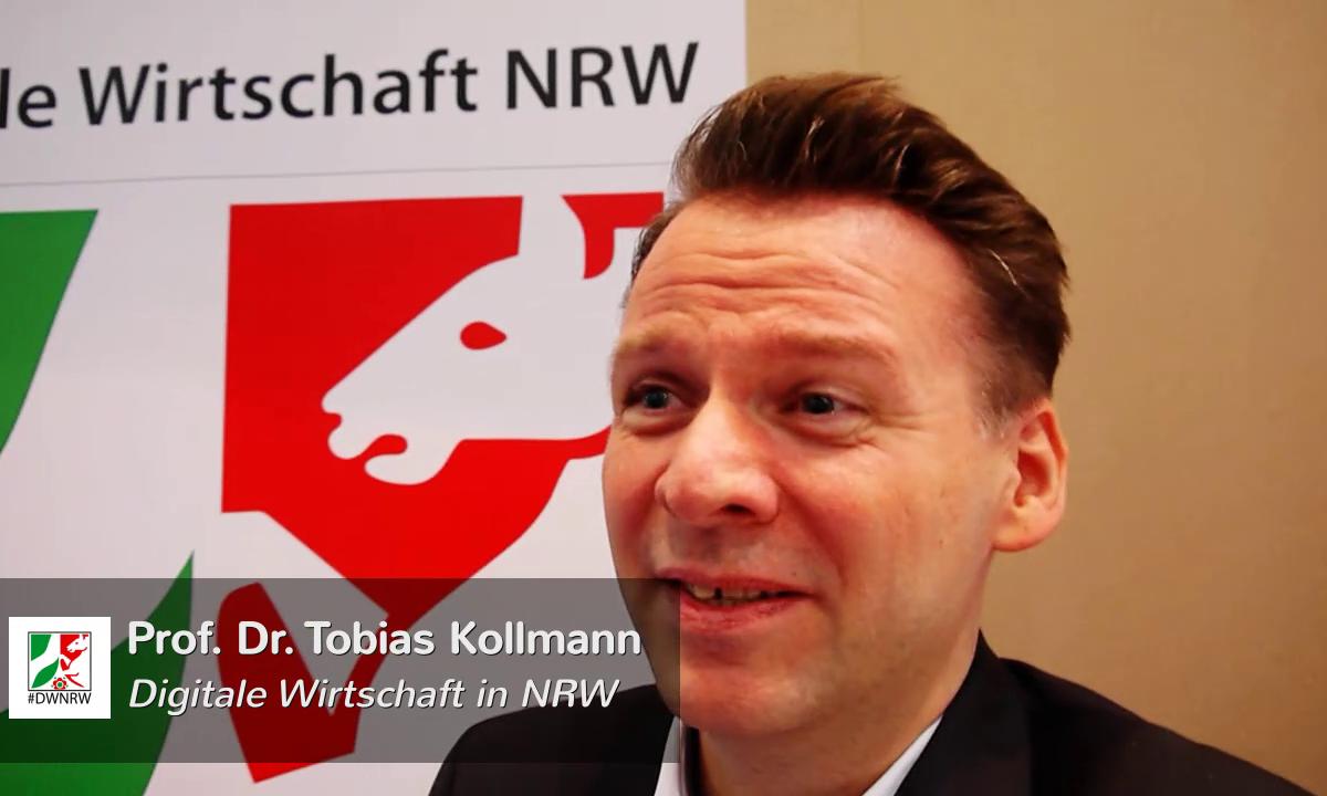 Prof Dr Tobias Kollmann Digitale Wirtschaft in NRW cebit 2015