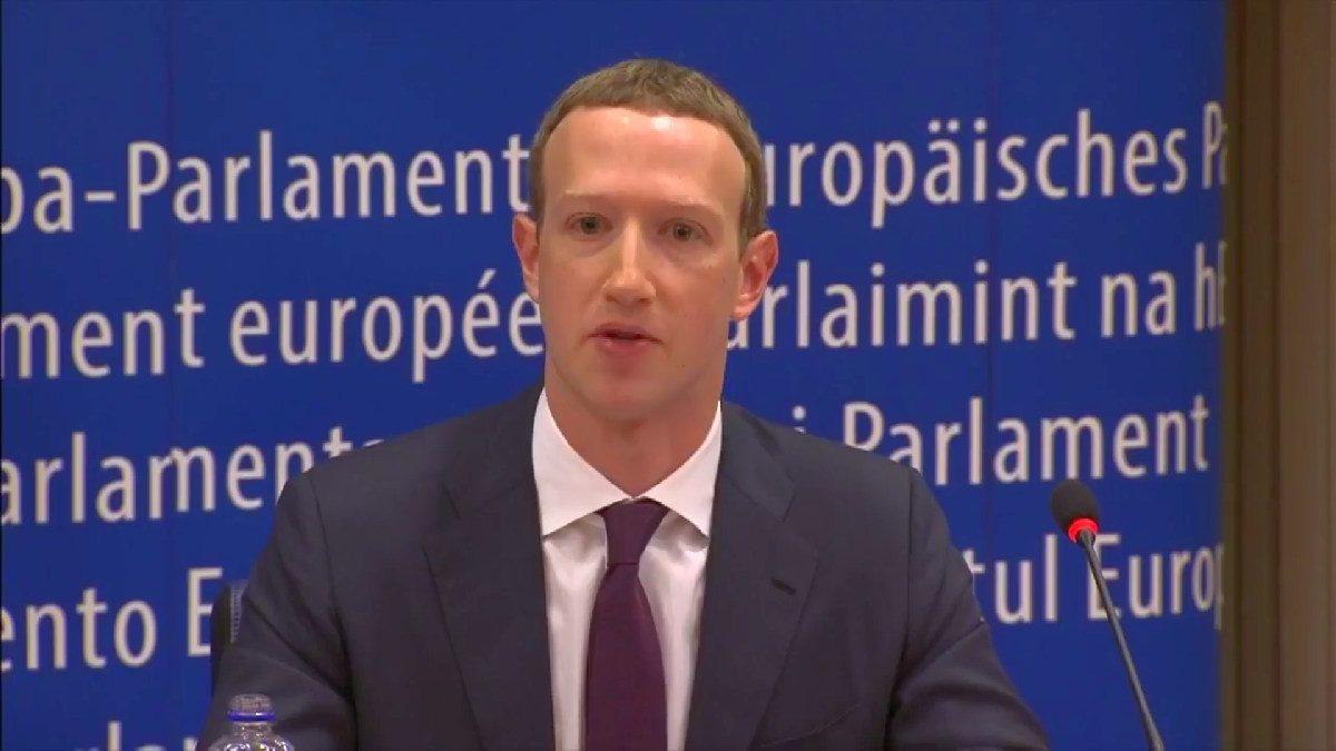 Mark Zuckerberg EU parliament